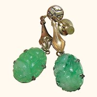 Vintage Jadeite-like Ear Rings
