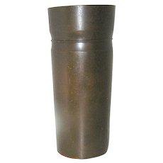 Chinese Cylinder Vase In Bronze, marked
