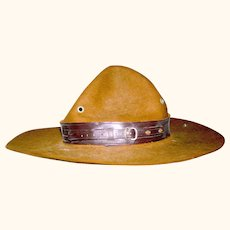 Vintage Scout Leader's Hat, Bronx NY, circa 1960