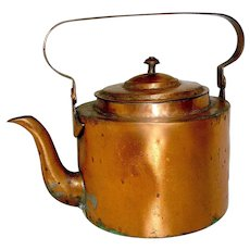 Antique Copper Gooseneck Kettle