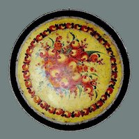 Antique tole tray, round, large, hand painted, Florence Italy