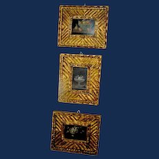 Vintage Group of Spanish Paintngs Florentia Gold Frames