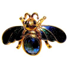 Vintage pin/brooch marked D'Orlian Gold tone