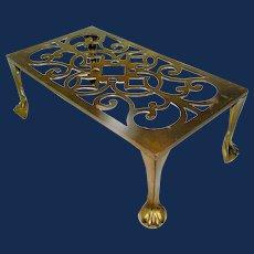 Antique Brass Open Hearth Fireplace Trivet