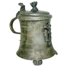Antique Pewter Flagon or Mug