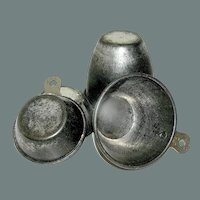 Antique Set of Tin Measuring Cups