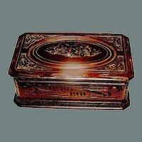 Antique Box carved of Gutta Percha