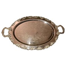 Vintage Silverplate tray or salver with the Crescent mark