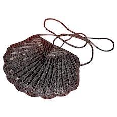 Ladies black beaded evening purse
