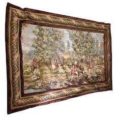 Vintage Large Tapestry Pastoral Scene Lined