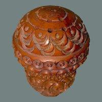Antique Vinaigrette carved by sailor, 19th c.