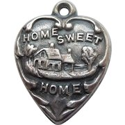 Engraved 'Mamie' - Sterling Silver Puffy Heart Charm - Home Sweet Home