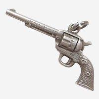 Colt Frontier Six Shooter Pistol Revolver Gun Sterling Silver Charm