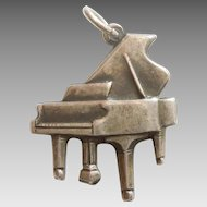 Vintage Sterling Silver Grand Piano Charm