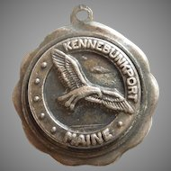 Bates & Klinke B&K Kennebunkport Maine with Seagull - Sterling Silver Travel Souvenir Charm
