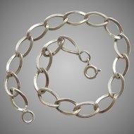 Vintage 1940s Starter Charm Bracelet - 7 3/8''