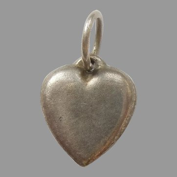 Tiny Plain Sterling Silver Heart Charm