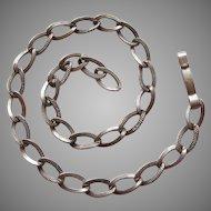 Vintage Fine-linked 1940s Sterling Silver Starter Charm Bracelet