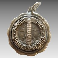 Bates & Klinke - Bunker Hill Monument - Charlestown Massachusetts  - Sterling Silver Travel Souvenir Charm