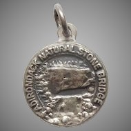 Bates & Klinke Adirondack Natural Stone Bridge NY Sterling Silver Travel Souvenir Charm