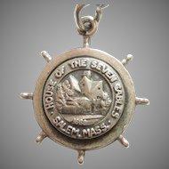 The House of Seven Gables - Salem, Massachusetts - Bates & Klinke B&K Sterling Silver Travel Souvenir Charm