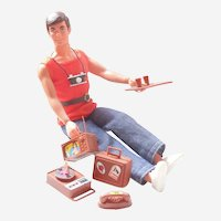 1971 Busy Ken with Holdin' Hands and 5 Toys to Play With - Original Doll, Clothes, and Accessories - Mattel Barbie - Shipping Included