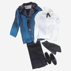 #1719 'Midnight Blues' Ken Doll Clothes Original 1972 Complete Tuxedo Outfit by Mattel