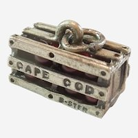 Cape Cod Cranberry Crate Sterling Silver Charm by Beau