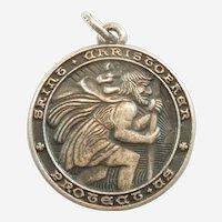 St. Christopher Sterling Silver Pendant / Charm / Medal - JMF