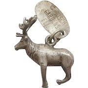 Sterling Silver 3D Elk Deer Busch Gardens Florida Souvenir Charm - Not a Moose!