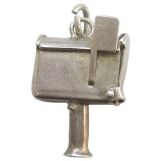 Vintage Sterling Silver Mechanical Mail Box Charm