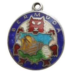 Bermuda Sterling Silver and Enamel Travel Charm - BMCo