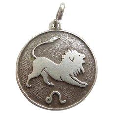 Vintage LEO the LION Zodiac Charm - Love the Tail!