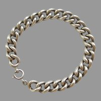 835 Silver Hollow Link Starter Charm Bracelet - 7 1/4''