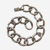 Heavy Rope Link Georg Jensen Inc USA / La Paglia Sterling Silver Starter Charm Bracelet - 7 1/2''