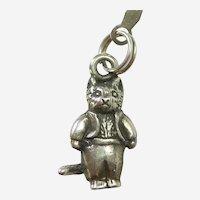 Hand & Hammer Beatrix Potter Tom Kitten Kitty Cat Sterling Charm / Pendant - Retired