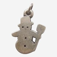 James Avery Retired Sterling Silver Snowman Winter / Holiday / Christmas Charm - Snow Man