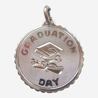 'Graduation Day' Cap and Diploma Sterling Silver Charm