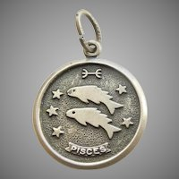 Pisces - The Fish - Beau Sterling Silver Zodiac Astrology Charm