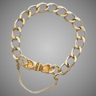 """Large Link Starter Gold Tone Bracelet for Chunky Charms - 7 1/2"""""""
