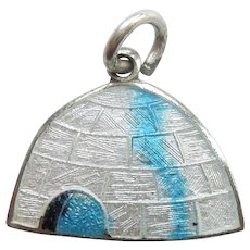 Igloo Sterling Silver and Enamel Charm - Alaska - BMCo