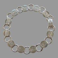 Sarah Cov Coventry Young & Gay Silvertone Charm Bracelet