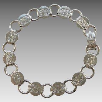 Sarah Cov Coventry Young & Gay Silvertone Charm Bracelet