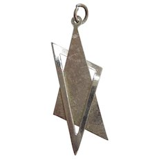 Vintage Abstract STAR OF DAVID Sterling Silver Charm or Pendant