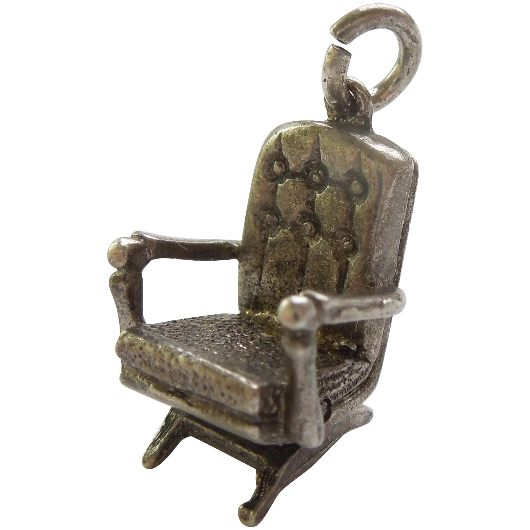 Strange Upholstered Tufted Rocking Chair Moving Platform Rocker Sterling Silver Charm Gmtry Best Dining Table And Chair Ideas Images Gmtryco