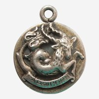 Cini CAPRICORN, the GOAT / SEA-GOAT Sterling Silver Zodiac Charm
