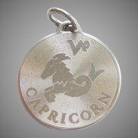 CAPRICORN the GOAT / SEA-GOAT Zodiac Sterling Silver Zodiac Charm