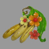 Selini Fruit and Flower Enamel Banana Pin