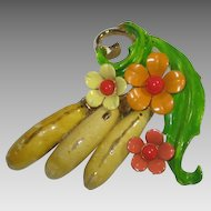 Selini Fruit and Flower Enamel Banana Pin