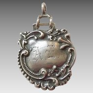 Foree Hunsicker Sterling Silver Luggage Tag Pendant